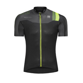 Sportful Bodyfit Pro Race Jersey Men black/anthracite/yellow fluo
